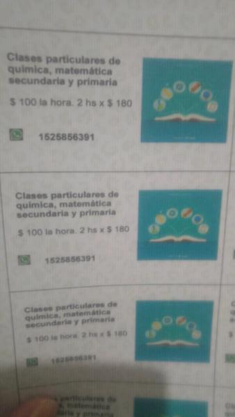 Clases particulares de fisica, quimica y matematicas 0