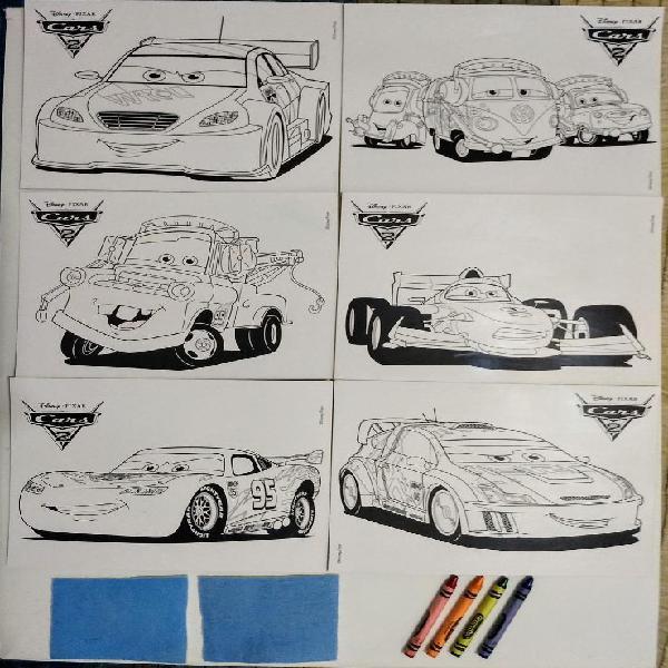 Láminas Disney Cars Pintar Y Borrar 0