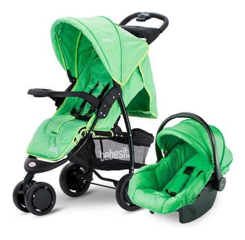 Cochecito De Bebé Bebesit Piccolo 1430ts Negro Y Verde 0