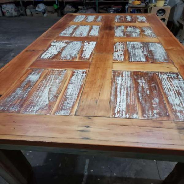 Mesa rustica madera demolicion en Don Torcuato 0