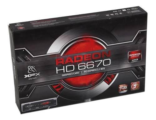 Xfx Radeon Hd 6670 1gb Ddr5 Hdmi Dvi Vga Pci Express 2.1 Bus 0
