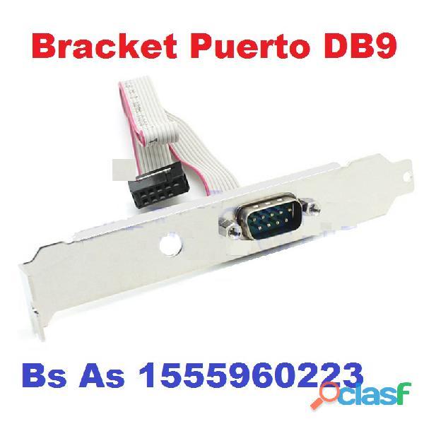 Bracket Puerto Serial DB9 RS232 Simple y Doble CABA 2