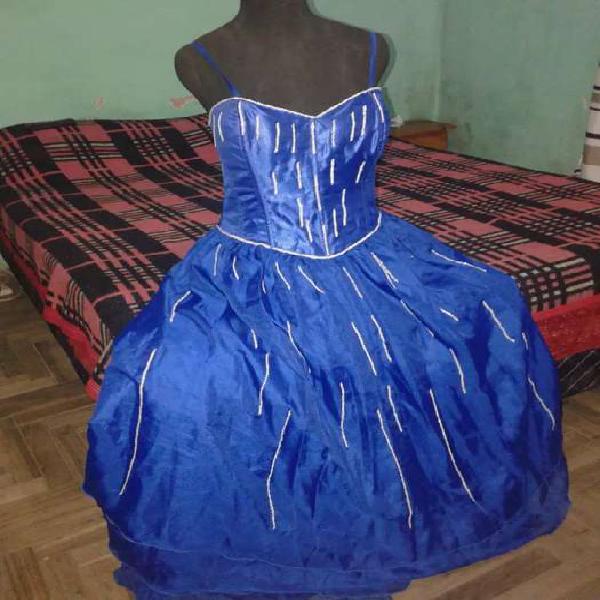 Vestido de 15 azul 0