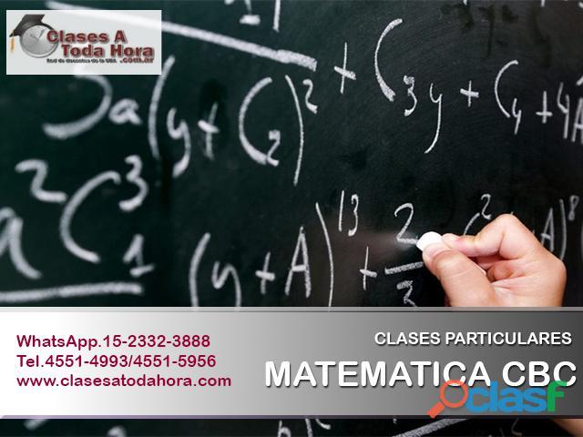 ¿necesitas clases de apoyo para matematica o quimica cbc? clases particulares y cursos