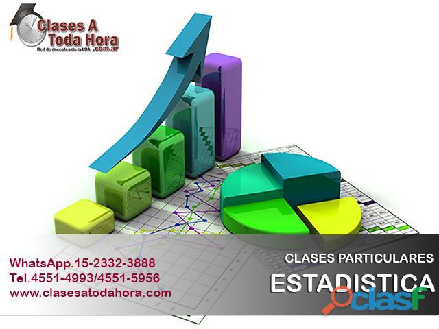 Clases particulares de estadística y bioestadística   docentes uba