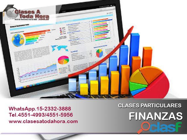 Clases particulares de calculo financiero finanzas i y ii