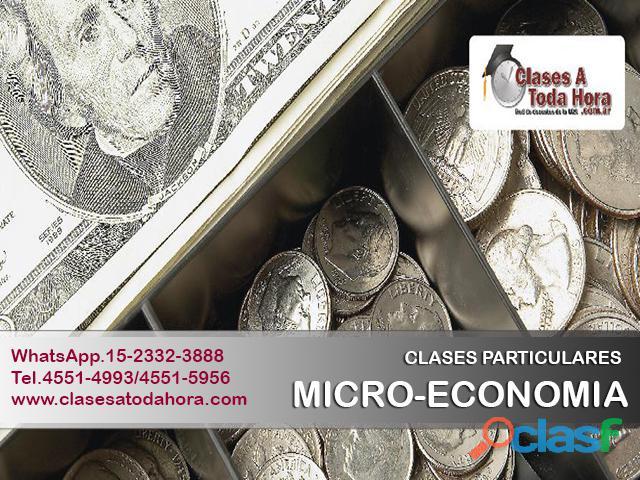 Profesor particular de microeconomía i y ii   profesores uba