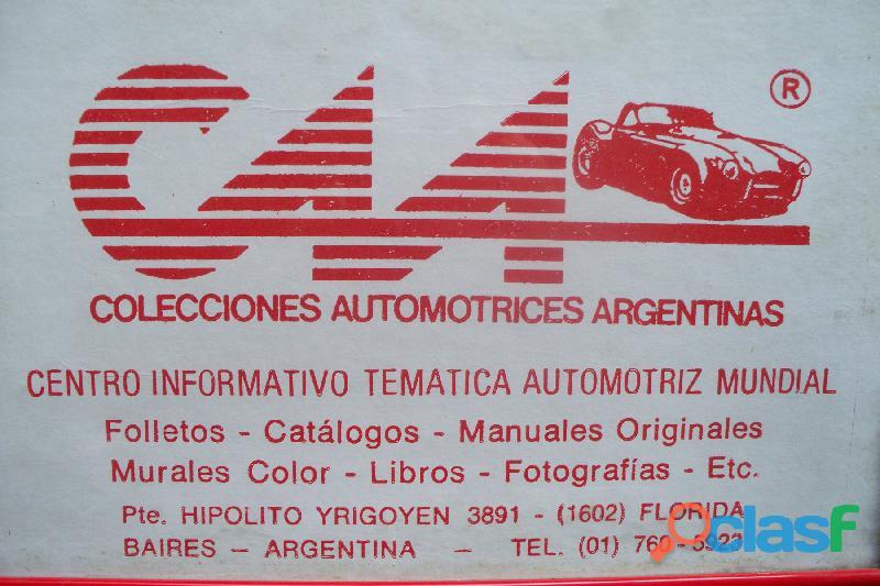 * VENTA DE MANUALES AUTOS CLASICOS* AUTOMOBILIA C.A.A. 1