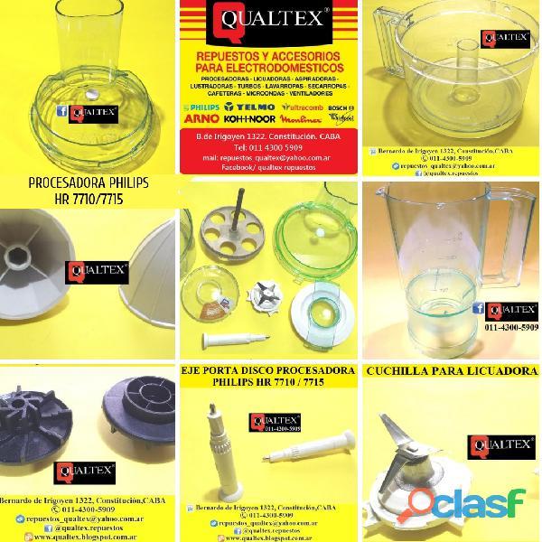 Repuestos para procesadora philips hr7710 / 7715