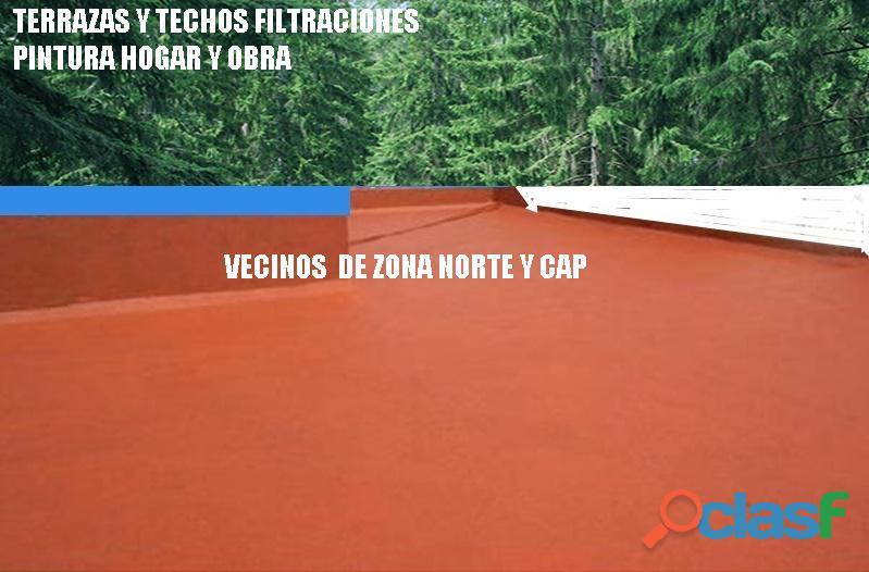 Terrazas techos filtraciones en belgrano
