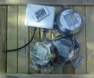 Kit completo 3 luces led rgb para pileta 3x6 (envío