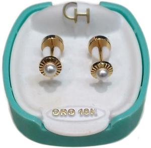 9205d53ebda8 Abridores oro 18k marca ch modelo facetado con perla en Villa Del ...