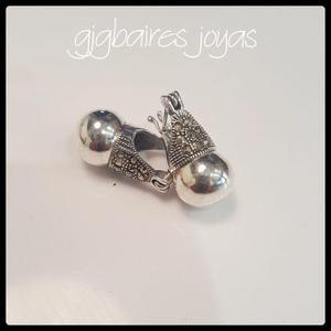 cef015722f30 Aros de plata lady dy grandes con bola de plata