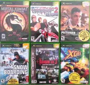Vendo Lote Juegos Xbox Clasica Originales Y Backup En Liniers