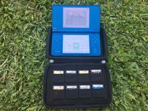 Nintendo ds xl + funda + 11 juegos
