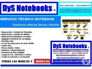 Pantallas o display notebook reparacion y venta