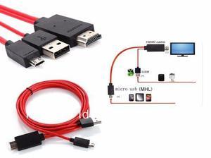 Cable hdmi a micro usb mhl samsung galaxy etc. polotecno