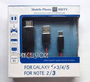 Cable hdtv hdmi samsung galaxy s3 / s4 / s5 / note 2 /note 3