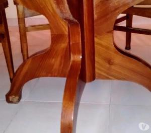 Mesa redonda extensible sillas clasf for Mesa redonda para 6 sillas