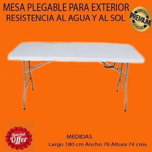 Mesa sillas plastico anuncios abril clasf for Mesa plegable plastico