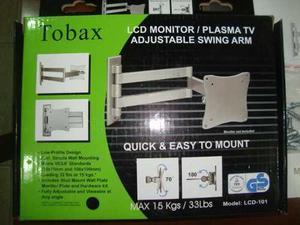Soporte tv led tobax lcd-101 13-42' 15kg /33 libras nuevo.-