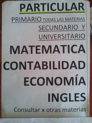 Clases particulares contabilidad inglés matemáticas