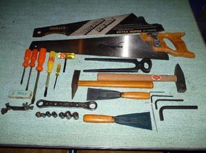 Lote de herramientas manuales usadas