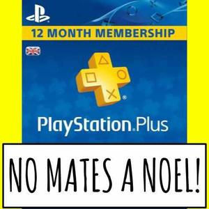 Psn plus online 12 meses con tu usuario!