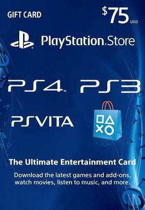 Tarjeta digital usd 75 psn playstation card | chapox codes