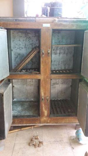 Vendo heladera 4 puertas de madera
