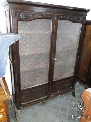 Antigua biblioteca roble 2 puertas. cód.: #0863