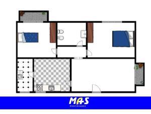 Impecable departamento 3 ambientes 2º piso por escalera al