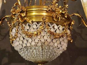 Lámpara imperio francesa legítima 9 luces, varias cuotas