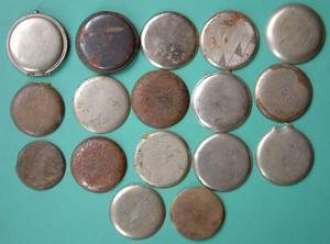 Antiguo lote de repuestos para caja de reloj bolsillo