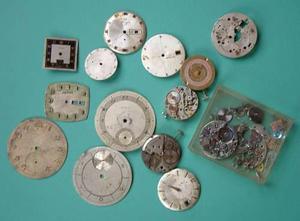 Antiguo lote de repuestos reloj pulsera / bolsillo caballero