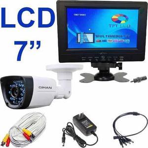 Kit seguridad monitor lcd video camara infrarroja ahd 720p