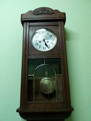 f8e425393963 Reloj antiguo a pendulo el aguila fms caja de roble