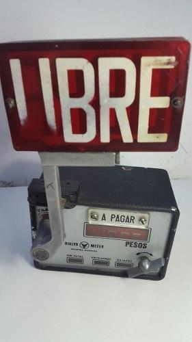 Reloj Antiguo Taxi Taximetro Bandera Taxi