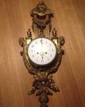 Reloj frances bronce dorado luis xvi