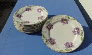 Vajilla antigua...platos de postre sello societe ceramique