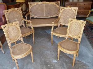 Juego sillones sala living francés luis xvi impecables,