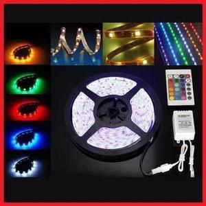 Tira led 5050 de colores rgb con control y fuente!!!!