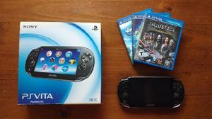 Sony psvita + 4gb y 3 juegos.