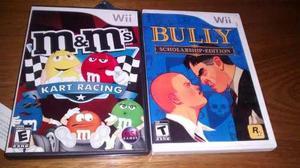 Bully + m&m kart juegos de wii los dos por 450
