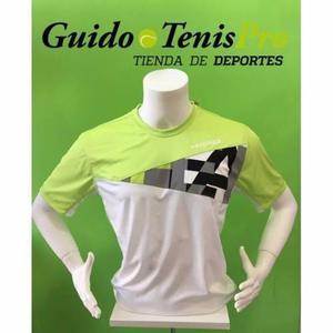 Chombas remeras head arne verde tenis hombre guido tenispro