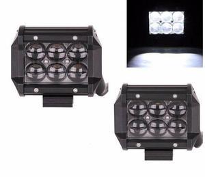 Faro auxiliar led cree 18 w 4d con soporte, switch tipo moto