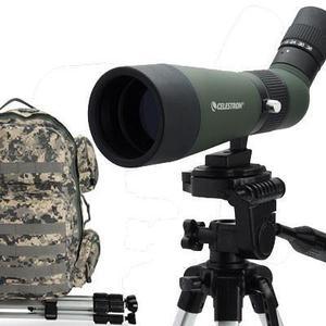 Catalejo celestron zoom 12-36x 60mm 45º kit tripode mochila