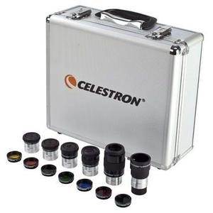 Kit celestron p/ telescopio oculares plossl filtros barlow