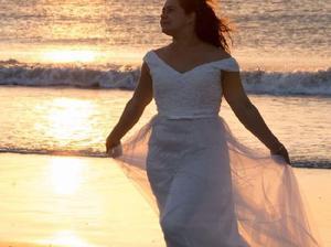 Vestido de novia único!