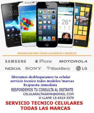 Servicio tecnico samsung blackberry nokia motorola sony lg